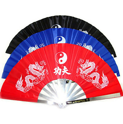 NEW Tai Chi Fan Steel -  Dragon Design KUNG FU TAI CHI Martial Arts Training Fan