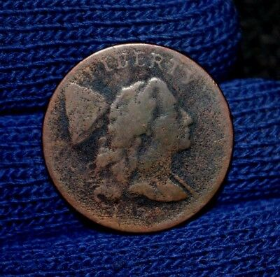 1794 LARGE CENT**Head of 1794**VERY GOOD Obverse and Reverse Detail**weak date