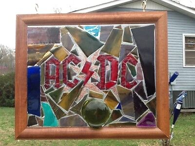 AC DC Band Art Stained Glass Window Art Sun Catcher