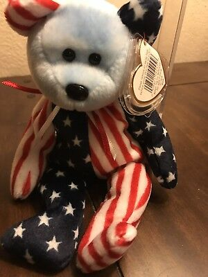 """TY Beanie Baby """"1999 Spangle Blue Face"""" Rare with Tag Errors"""