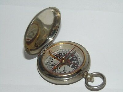 Original Vintage Hunter Pocket Watch Type Metal Closed Case Compass Military ?