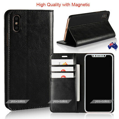 MUSUBO Leather Wallet Card Holder Stand Flip Case Cover for iPhone Xs Max Xs 8 P