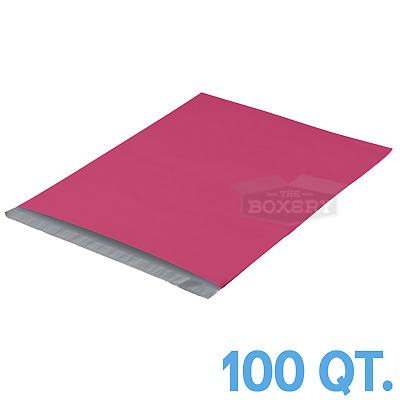 100 - 14.5x19 PINK POLY MAILERS ENVELOPES BAGS 14.5 x 19 - 2.5MIL The Boxery