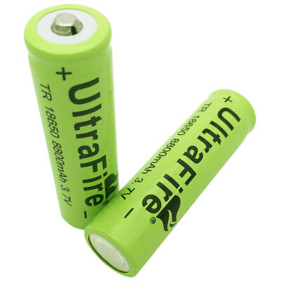 2x 18650 8800mAh Batterie 3.7V Li-ion Rechargeable Battery for Flashlight Torch