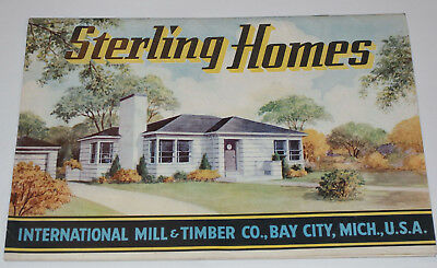 Vintage 1947 House Plan/layouts Catalog! Ready Cut Homes! Cape Cod/bungalow & ++