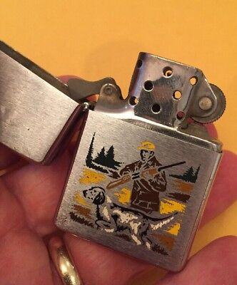 1972 Zippo Lighter - Hunter With Bird Dog  from the Sports Series