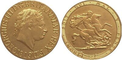 1819 24k GOLD PLATED King George III Full Sovereign SOUVENIR NOVELTY COIN