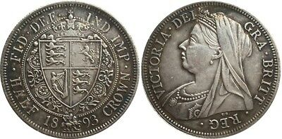 1893 Queen Victoria Half Crown NOVELTY COIN Silver Plated