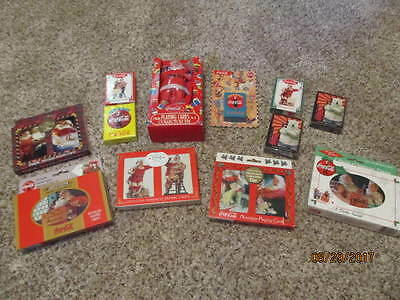 18 Count Vintage Sealed Coca Cola Playing Card Decks - In Decorative Tins