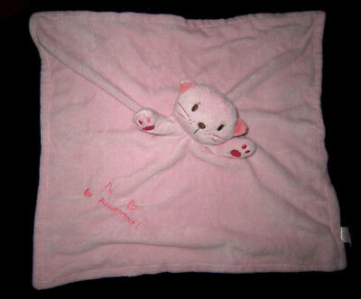 Doudou carré plat couverture Chat rose I'm puuurrrfect ! Primark Early days