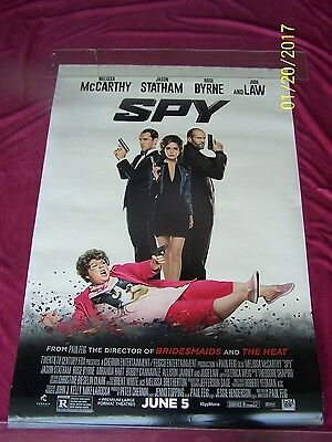 SPY Original Advance Movie Poster 27x40 D/S 1SH  McCarthy Jude Law Stratham