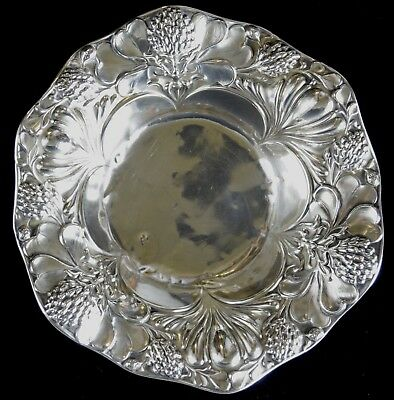 "5.5"" Gorham Repousse Sterling Silver Nut Bowl NO RESERVE 64 g Not Scrap 5"