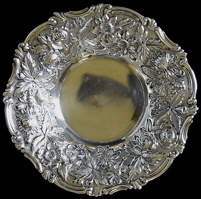 "6"" Jacobi Repousse Sterling Silver Nut Bowl NO RESERVE 109 g Not Scrap 6"