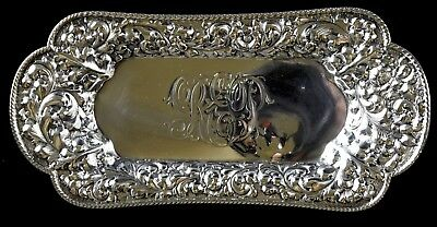"8"" Durgin Sterling Silver Repousse Tray Pin Dish NO RESERVE 133 g Not Scrap 12"