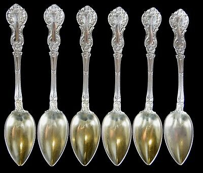 Six Gorham Sterling Silver Ice Cream Spoons NO RESERVE 138 g Not Scrap 13