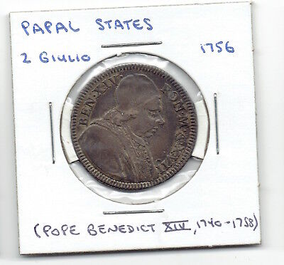 1756 Papal States 2 Giulio Silver