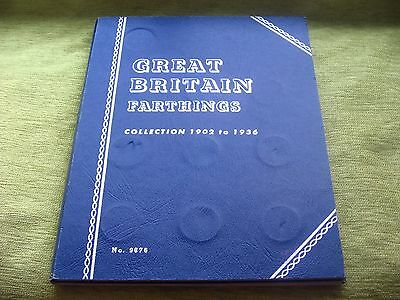 *rare*1902-1936 Whitman Folder For Gb Bronze Farthings