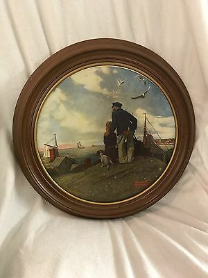 Lot!!!! 2 VINTAGE 1980 NORMAN ROCKWELL COLLECTIBLE PLATES