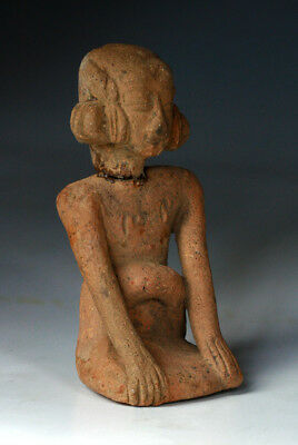 *sc* Rare Pottery Figure Of A Woman Or Deity, Ancient Javanese Majahapit 1100 Ad