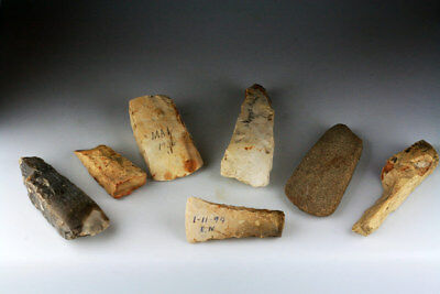 *SC* INTERESTING LOT OF 7 DANISH NEOLITHIC AXES, 3rd-2nd mill BC!!