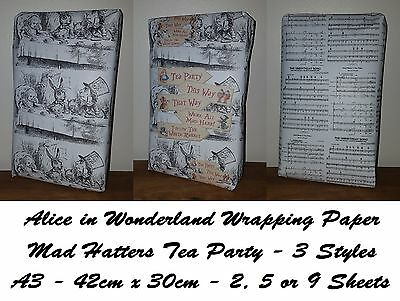 Exclusive ALICE IN WONDERLAND - MAD HATTERS TEA PARTY Wrapping Paper, this way