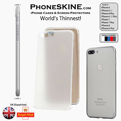 "CLEAR Apple iPhone case skin 0.02"" Ultra Worlds thinnest perfect fit PhoneSKINe"