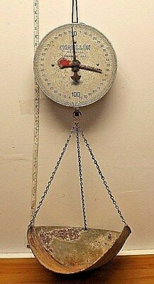 Vintage Chatillon  Hanging Scale Grocery Store Merchant Scale