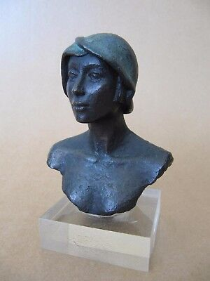 Spain: Garcia Manrique, bust of a young woman, made of patinated terracotta