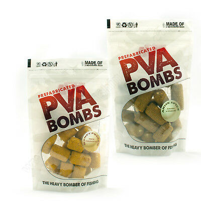 Carp Fishing PVA Bait Bombs Fish Liver Amino Corn Honey Barbel Glugged