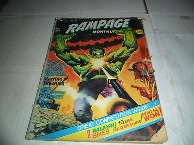 Rampage - 1st Issue - July 1978 Comic / Magazine Collectable, No 1 Marvel