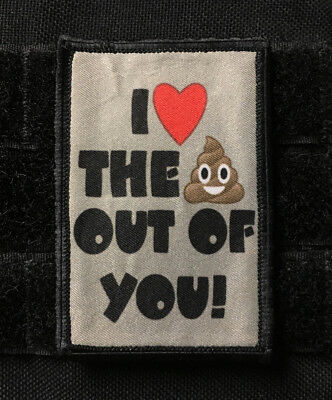 Poop Emoji Morale Patch Funny Military Tactical Army Flag USA Badge