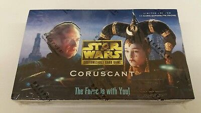Star Wars CCG Limited Edition Coruscant Booster Pack Box SEALED!! SEE SCANS!! A