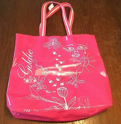 GOLDIE Pink Vinyl Tote Bag LIMITED EDITION Bath and Body Works NWT