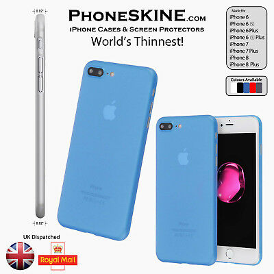 """BLUE Apple iPhone PhoneSKINe iPhone case 0.02"""" Ultra thin perfect fit Silicone"""