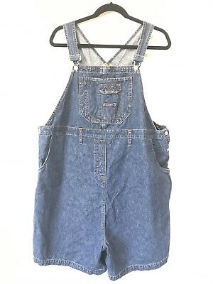 Jean Overalls Short Bib Overalls Medium Wash Size Large