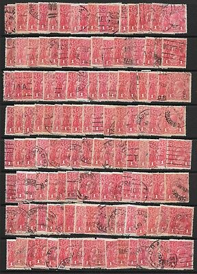 KGV    1d  RED  SINGLE WMK    PAGE FULL BUT ALL DAMAGED      not perfect / 2nd's