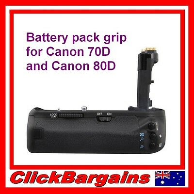 VERTICAL BATTERY PACK HAND GRIP HOLDER for CANON 70D and 80D - BG-1T compatible