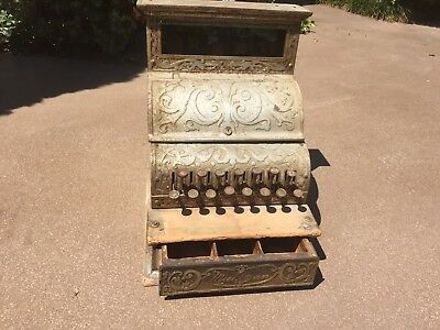 Antique Michigan Cash Register, Brass, Ornate, Early 1900s, in working condition