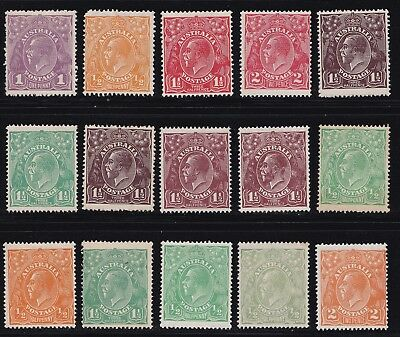Stamps Australia - KGV Heads Mixed Lot Mint Hinged - Various Condition.