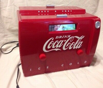 1988 Coca-Cola #otr-1949 Old-Tyme Cooler Am/fm Radio And Cassette