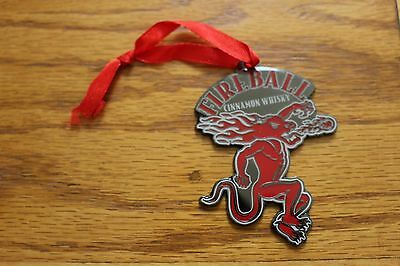 Fireball Whisky Metal emblem tag NEW IN PACKAGE