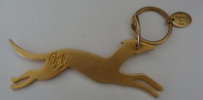 Unique BIMBA & LOLA GREYHOUND METAL KEY CHAIN MARKED B&L SPAIN EXCELLENT