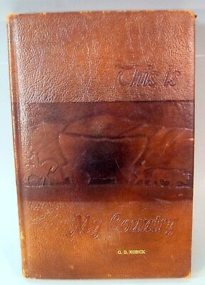 """""""This is My Country"""" Leather Bound Book of Maps and Information on The United St"""