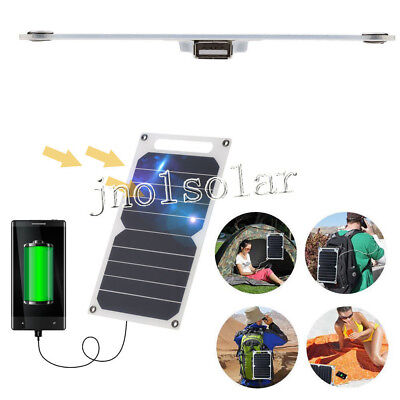 Portable Solar Charger 10W Ultra Thin Silicon Solar Panel 5V USB Ports for Phone