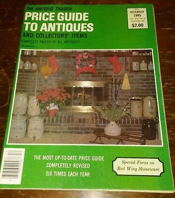 Price Guide to Antiques Trader Magazine DECEMBER 1985 FOCUS: RED WING STONEWARE