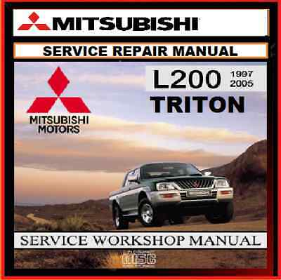 MITSUBISHI MK TRITON L200 2WD and 4WD PETROL-DIESEL WORKSHOP REPAIR MANUAL CD