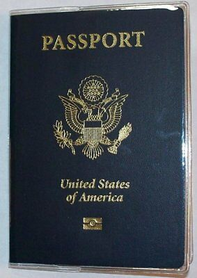 USA Quality Fast Ship Passport Heavy Duty Clear Vinyl Cover Protector Holder