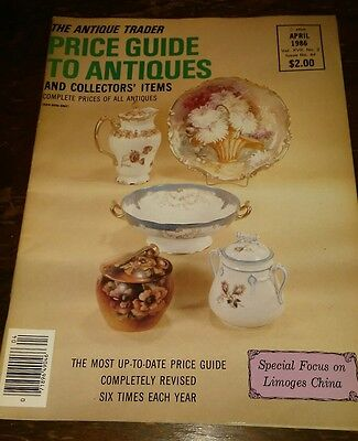 Price Guide to Antiques Trader Magazine APRIL 1986 FOCUS: LIMOGES CHINA