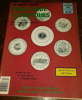 Price Guide to Antiques Trader Magazine DECEMBER 1986 FOCUS: ABC PLATES