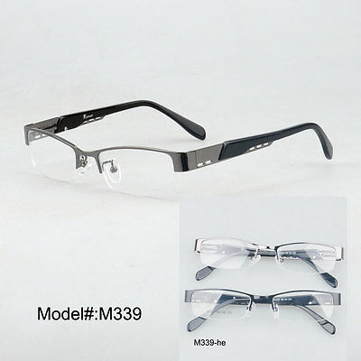 M339 Low factory price quality metal half rim myopia optical eye glasses frames